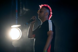 GIFFONI VALLE PIANA, ITALY - JULY 23: Payà of Boomdabash performs at Giffoni Film Festival 2019 on July 23, 2019 in Giffoni Valle Piana, Italy. (Photo by Ivan Romano/Getty Images)