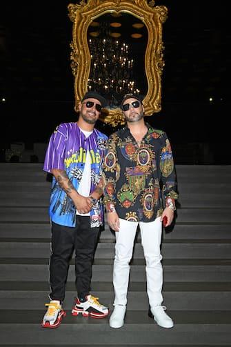 MILAN, ITALY - JUNE 15: Takagi & Ketra attend Dolce & Gabbana - Front Row - Milan Men's Fashion Week Spring/Summer 2020 on June 15, 2019 in Milan, Italy. (Photo by Daniele Venturelli/Daniele Venturelli/ Getty Images for Dolce & Gabbana)