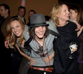 """WEST HOLLYWOOD, CA - JANUARY 06:  (L-R) Actors Marlee Matlin, Katherine Moenning and Laurel Holloman attend the season 5 premiere party for """"The L Word"""" at The Factory on January 6, 2008 in West Hollywood, California.  (Photo by Stephen Shugerman/Getty Images)"""