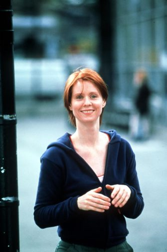 "384168 06: Actress Cynthia Nixon (Miranda) acts in a scene from the HBO television series ""Sex and the City"" third season, episode ""No Ifs Ands Or Butts"". (Photo by Paramount Pictures/Newsmakers)"