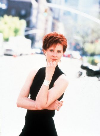 "375122 01: Cynthia Nixon stars in ""Sex And The City,"" Season 2. 1999 Paramount Pictures/ Online USA Inc."