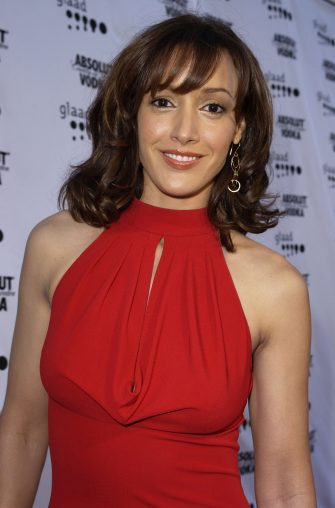 Jennifer Beals during The 14th Annual GLAAD Media Awards Los Angeles - VIP Reception at Kodak Theatre in Hollywood, California, United States. (Photo by J. Vespa/WireImage)