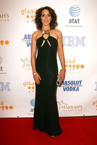 HOLLYWOOD - APRIL 26:  Actress Jennifer Beals during cocktails at the 19th Annual GLAAD Media Awards on April 25, 2008 at the Kodak Theatre in Hollywood, California.  (Photo by Jeff Vespa/WireImage)