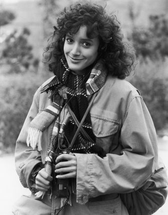 American actress Jennifer Beals listening to a Walkman, circa 1983. (Photo by Archive Photos/Getty Images)