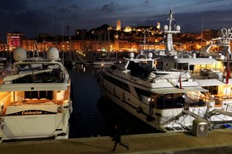 CANNES, FRANCE - MAY 10:  Yachts line the harbour at dusk prior to the annual film festival on May 10, 2010 in Cannes, France. The 63rd Cannes Film Festival will run from May 12 to May 23.  (Photo by Sean Gallup/Getty Images)