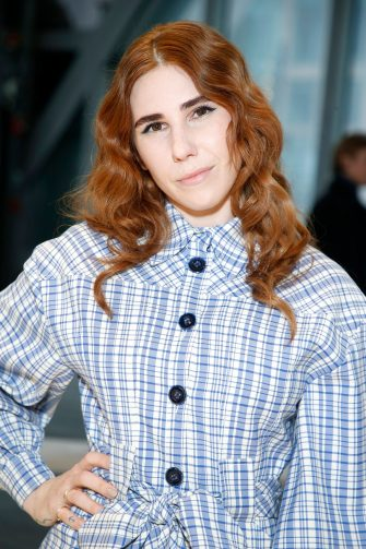 NEW YORK, NEW YORK - FEBRUARY 10: Zosia Mamet attends the front row for Carolina Herrera during New York Fashion Week on February 10, 2020 in New York City. (Photo by John Lamparski/Getty Images)