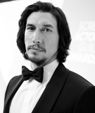 LOS ANGELES, CALIFORNIA - JANUARY 19: (EDITORS NOTE: Image has been converted to black and white.) Adam Driver attends the 26th Annual Screen Actors Guild Awards at The Shrine Auditorium on January 19, 2020 in Los Angeles, California. (Photo by Rich Fury/Getty Images)