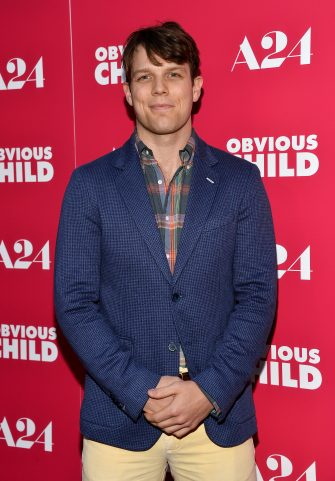 """HOLLYWOOD, CA - JUNE 05:  Actor Jake Lacy arrive at the Los Angeles special screening of A24's """"Obvious Child"""" at the ArcLight Hollywood on June 5, 2014 in Hollywood, California.  (Photo by Amanda Edwards/WireImage)"""