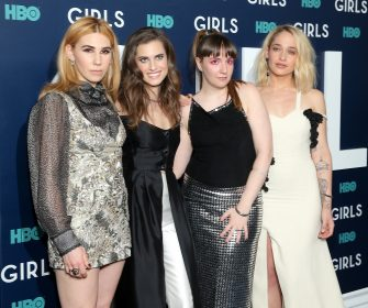 """NEW YORK, NY - FEBRUARY 02:  (L-R) Actors Zosia Mamet, Allison Williams, Lena Dunham and Jemima Kirke attend The New York Premiere Of The Sixth & Final Season Of """"Girls"""" at Alice Tully Hall, Lincoln Center on February 2, 2017 in New York City.  (Photo by J. Countess/Getty Images)"""