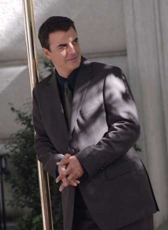 NEW YORK - SEPTEMBER 19:  Chris Noth stands on Location for Sex and The City: The Movie on Fifth Avenue's Museum Mile, New York City, September 19 2007  (Photo by Bobby Bank/WireImage)