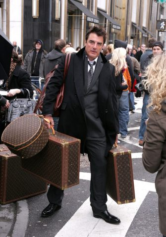 "NEW YORK - MARCH 05:  Actor Chris Noth on location for Annie Leibowitz's Vogue ""Sex and the City"" photo shoot March 5, 2008 in New York City.  (Photo by James Devaney/WireImage)"