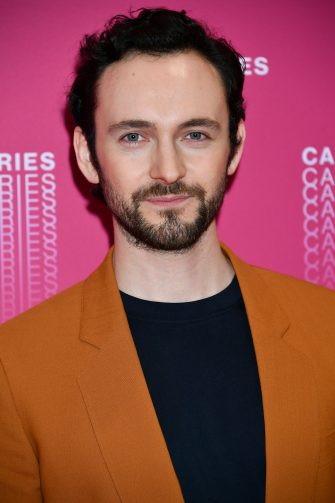 "CANNES, FRANCE - APRIL 04:  George Blagden from the ""Versailles"" tv show  premiere attends opening ceremony of the 1st Cannes Series Festival on April 4, 2018 in Cannes, France.  (Photo by Dominique Charriau/WireImage)"