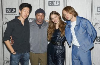 """NEW YORK, NEW YORK - SEPTEMBER 16: (L-R) Actors Jay Lee, Denny Love, Kristine Froseth and Charlie Plummer attend the Build Series to discuss """"Looking for Alaska"""" at Build Studio on September 16, 2019 in New York City. (Photo by Jim Spellman/Getty Images)"""