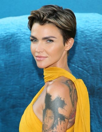 """HOLLYWOOD, CA - AUGUST 06: Ruby Rose attends the premiere of Warner Bros. Pictures and Gravity Pictures' Premiere of """"The Meg"""" on August 06, 2018 in Hollywood, California. (Photo by JB Lacroix/WireImage)"""