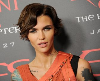"""LOS ANGELES, CA - JANUARY 23: Actress Ruby Rose arrives at the premiere of Sony Pictures Releasing's """"Resident Evil: The Final Chapter"""" at Regal LA Live: A Barco Innovation Center on January 23, 2017 in Los Angeles, California.  (Photo by Gregg DeGuire/WireImage)"""