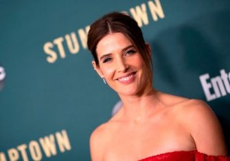 """Canadian actress Cobie Smulders attends the premiere of ABC's """"Stumptown"""" at the Petersen Automotive Museum, September 16, 2019, in Los Angeles. (Photo by VALERIE MACON / AFP)        (Photo credit should read VALERIE MACON/AFP via Getty Images)"""