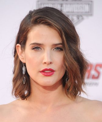 """HOLLYWOOD, CA - APRIL 13:  Actress Cobie Smulders arrives at the Los Angeles premiere of Marvel's """"Avengers: Age Of Ultron"""" at Dolby Theatre on April 13, 2015 in Hollywood, California.  (Photo by Gregg DeGuire/WireImage)"""