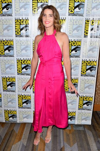 """SAN DIEGO, CALIFORNIA - JULY 18: Cobie Smulders attends the """"Stumptown"""" press line on July 18, 2019 in San Diego, California. (Photo by Jerod Harris/Getty Images)"""
