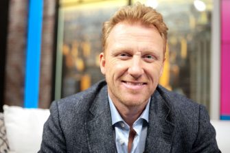 """NEW YORK, NEW YORK - NOVEMBER 15: (EXCLUSIVE COVERAGE) Actor Kevin McKidd visits """"People Now"""" on November 15, 2019 in New York, United States. (Photo by Steven Ferdman/Getty Images)"""