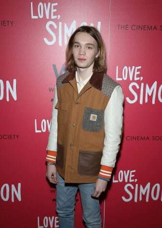 "NEW YORK, NY - MARCH 08: Charlie Plummer attends 20th Century Fox & Wingman host a NYC screening of ""Love,Simon"" at Landmark Theatre on March 8, 2018 in New York City.  (Photo by Manny Carabel/Getty Images)"