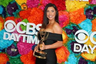 PASADENA, CALIFORNIA - MAY 05: Jacqueline MacInnes Wood poses with the Daytime Emmy Award for Outstanding Lead Actress in a Drama Series during CBS Daytime Emmy Awards After Party at Pasadena Convention Center on May 05, 2019 in Pasadena, California. (Photo by Leon Bennett/Getty Images)