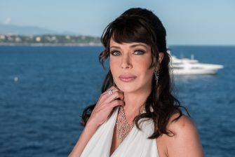MONACO - JUNE 13:  Actress Hunter Tylo poses for a portrait session at the Fairmont Monte Carlo Hotel during the 52nd Monte Carlo TV Festival on June 13, 2012 in Monaco, Monaco.  (Photo by Francois Durand/Getty Images)