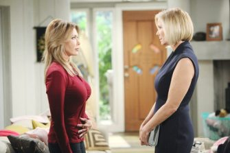 """Katherine Kelly Lang, Hunter Tylo """"The Bold and the Beautiful"""" Set CBS Television City Los Angeles, Ca. 10/26/18 © Howard Wise/jpistudios.com 310-657-9661 Episode # 7979 U.S.Airdate 12/3/18"""
