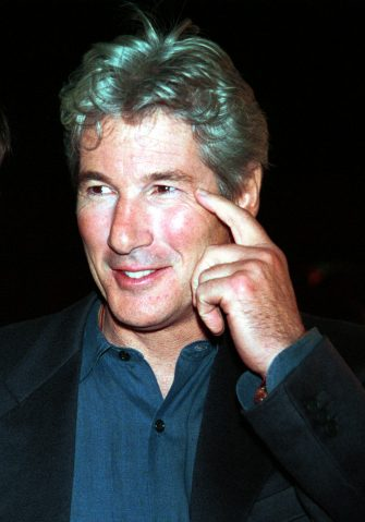 """380027 01: ITALY OUT Actor Richard Gere attends the New York premiere of Artisan Entertainment''s film, """"Dr. T & The Women"""" October 10, 2000 at the Ziegfeld Theatre in New York City. (Pnoto by Arnaldo Magnani/Liaison)"""