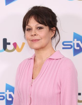 """LONDON, ENGLAND - FEBRUARY 24: Helen McCrory attends the """"Quiz"""" photocall at Soho Hotel on February 24, 2020 in London, England. (Photo by Mike Marsland/WireImage)"""