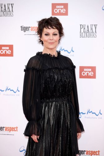 """BIRMINGHAM, ENGLAND - JULY 18: Helen McCrory attends the premiere of the 5th season of """"Peaky Blinders"""" at Birmingham Town Hall on July 18, 2019 in Birmingham, England. (Photo by Mike Marsland/WireImage)"""