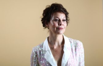 LONDON, ENGLAND - SEPTEMBER 15:  Helen McCrory backstage ahead of the Temperley London show during London Fashion Week September 2018 on September 15, 2018 in London, England.  (Photo by Tim Whitby/BFC/Getty Images for BFC)