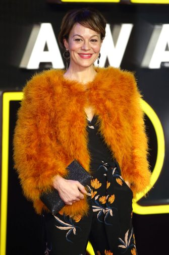 """LONDON, ENGLAND - DECEMBER 16:  Helen McCrory attends the European Premiere of """"Star Wars: The Force Awakens"""" at Leicester Square on December 16, 2015 in London, England.  (Photo by Mike Marsland/WireImage)"""