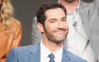 BEVERLY HILLS, CA - AUGUST 08:  Actor Tom Ellis speaks onstage at 'Gotham/Lucifer' panel discussion during the FOX portion of the 2016 Television Critics Association Summer Tour at The Beverly Hilton Hotel on August 8, 2016 in Beverly Hills, California.  (Photo by Frederick M. Brown/Getty Images)