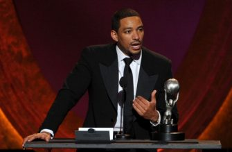 """LOS ANGELES, CA - FEBRUARY 17:  Actor Laz Alonzo accepts the award for Outstanding Actor in a Motion Picture for """"Jumping the Broom"""" onstage at the 43rd NAACP Image Awards held at The Shrine Auditorium on February 17, 2012 in Los Angeles, California.  (Photo by Kevin Winter/Getty Images for NAACP Image Awards)"""