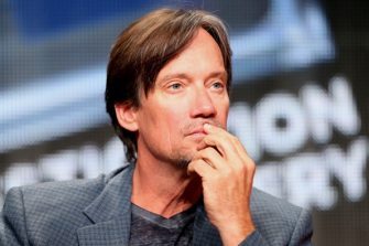 """BEVERLY HILLS, CA - JULY 09:  Actor Kevin Sorbo speaks onstage at the """"Heartbreakers"""" panel during the Discovery Communications portion of the 2014 Summer Television Critics Association at The Beverly Hilton Hotel on July 9, 2014 in Beverly Hills, California.  (Photo by Frederick M. Brown/Getty Images)"""