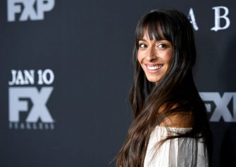 """LOS ANGELES, CA - JANUARY 09:  Actress Oona Chaplin attends the premiere of FX's """"Taboo"""" at DGA Theater on January 9, 2017 in Los Angeles, California.  (Photo by Matt Winkelmeyer/Getty Images)"""