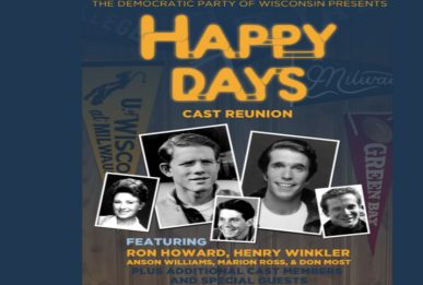 Usa 2020, la reunion di Happy Days a sostegno dei dem in Wisconsin