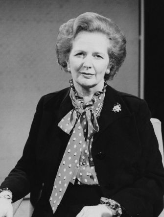 British Conservative Prime Minister Margaret Thatcher, circa 1980. (Photo by Tim Roney/Getty Images)