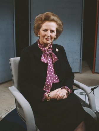 British Prime Minister Margaret Thatcher, circa 1990. (Photo by Tim Roney/Getty Images)