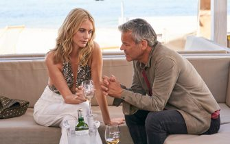 These images are under embargo until w/c 26th October  (L-R) Gabriel Hirsch (RUPERT GRAVES) and Daphne Eltham (POPPY DELEVINGNE)