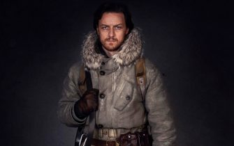 WARNING: Embargoed for publication until 00:00:01 on 26/10/2019 - Programme Name: His Dark Materials - TX: n/a - Episode: n/a (No. 1) - Picture Shows:  Lord Asriel (JAMES McAVOY), Stelmaria - (C) Bad Wolf - Photographer: Alex Bailey