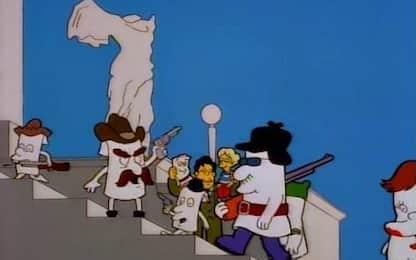 """Le """"previsioni"""" dei Simpson che anticipano l'assalto a Capitol Hill"""
