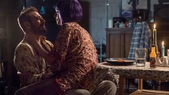 Jeffrey Dean Morgan as Negan, Hilarie Burton Morgan as Lucille - The Walking Dead _ Season 10, Episode 22 - Photo Credit: Josh Stringer/AMC