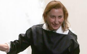 15/01/2007 Milano Milano Moda Uomo Miucci Prada al termine della sfilata in cui ha presentato  la collezione uomo autunno inverno 2007-2008 Matteo Bazzi Ansa