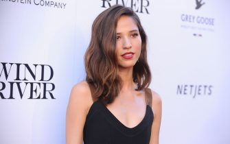 "LOS ANGELES, CA - JULY 26:  Actress Kelsey Asbille attends the premiere of ""Wind River"" at The Theatre at Ace Hotel on July 26, 2017 in Los Angeles, California.  (Photo by Jason LaVeris/FilmMagic)"