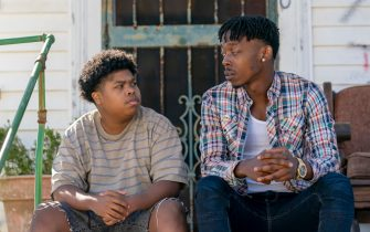 """(L-R): Benjamin Flores Jr as Eugene and Keith Machekanyanga as Little Mo in YOUR HONOR, """"Part Four"""". Photo Credit: Skip Bolen/SHOWTIME."""