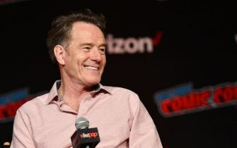 NEW YORK, NY - OCTOBER 04:  Bryan Cranston speaks onstage at the Sony Crackle Presents: SuperMansion panel during New York Comic Con 2018 at Jacob K. Javits Convention Center on October 4, 2018 in New York City.  (Photo by Noam Galai/Getty Images for New York Comic Con)