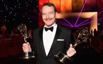 LOS ANGELES, CA - AUGUST 25:  Actor Bryan Cranston, winner of the Outstanding Lead Actor in a Drama Series Award and Outstanding Drama Series Award for Breaking Bad attends the 66th Annual Primetime Emmy Awards Governors Ball held at Los Angeles Convention Center on August 25, 2014 in Los Angeles, California.  (Photo by Frazer Harrison/FilmMagic)