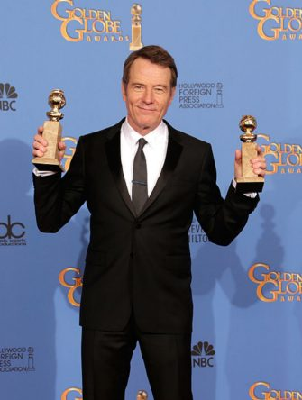 BEVERLY HILLS, CA - JANUARY 12: Actor Bryan Cranston poses in the press room during the 71st Annual Golden Globe Awards held at The Beverly Hilton Hotel on January 12, 2014 in Beverly Hills, California.  (Photo by Jeff Vespa/WireImage)