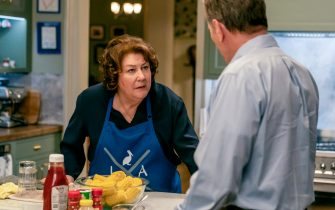 """(L-R): Margo Martindale as Elizabeth Guthrie and Bryan Cranston as Michael Desiato in YOUR HONOR, """"Part Four"""". Photo Credit: Skip Bolen/SHOWTIME."""